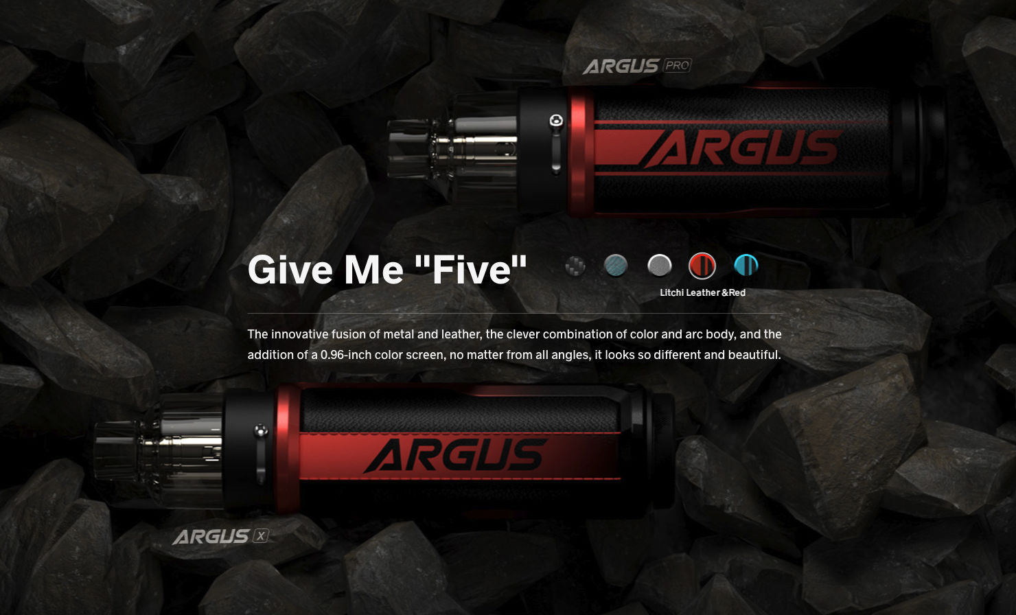 Argus PX features a great combination of metal and leather materials