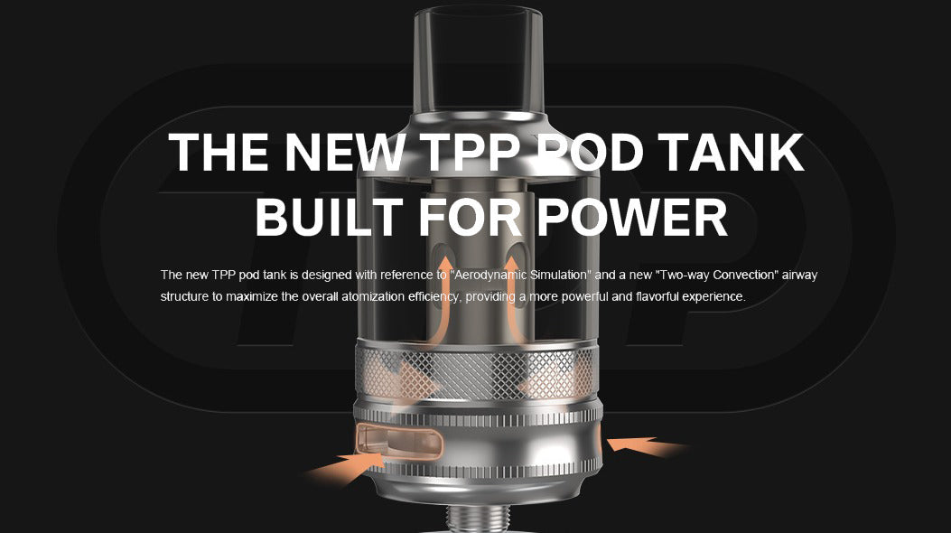 compatible with all TPP coils. Dual way convection for more flavour.