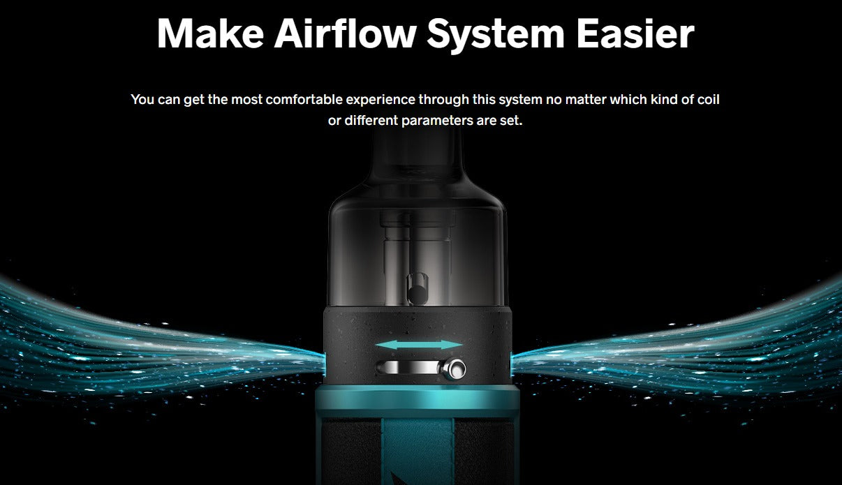 Simple, adjustable airflow. Side to side sliding.
