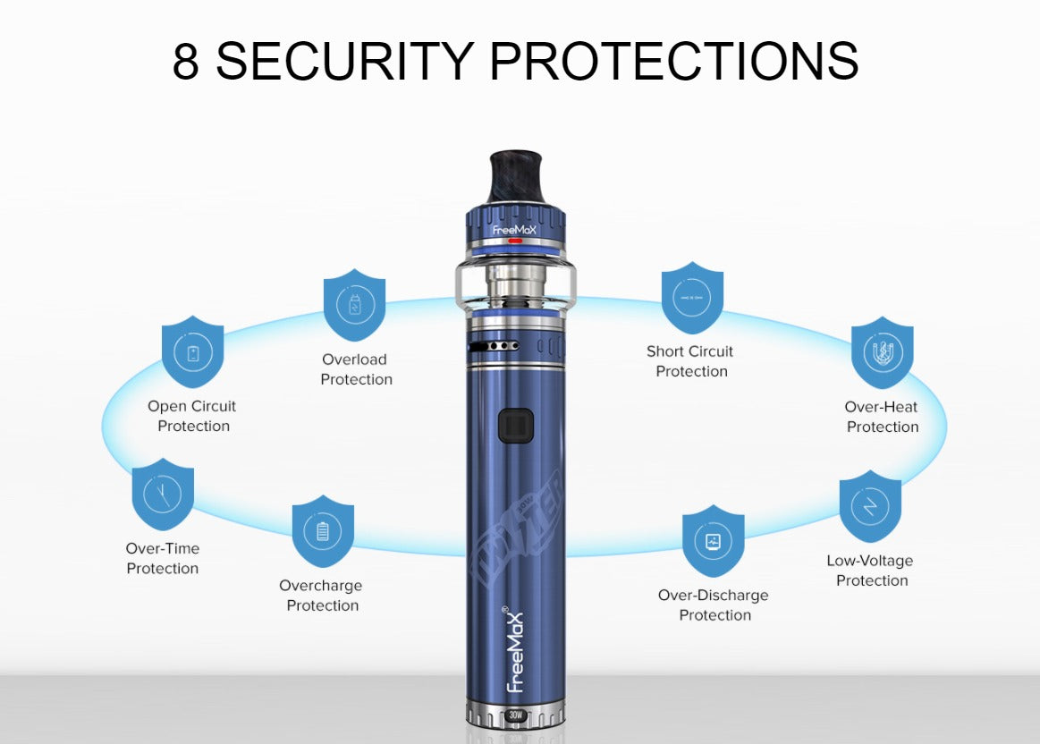 Eight protective features to ensure proper vaping safety.