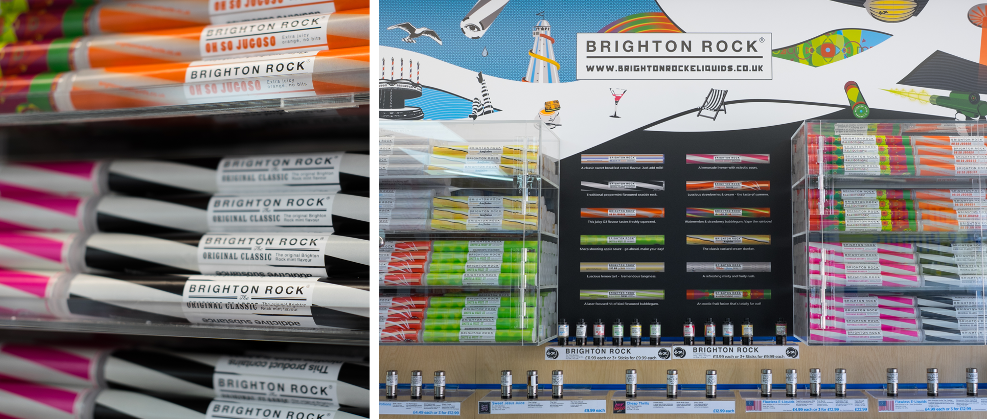 Vape UK's Brighton Rock e-Liquid range
