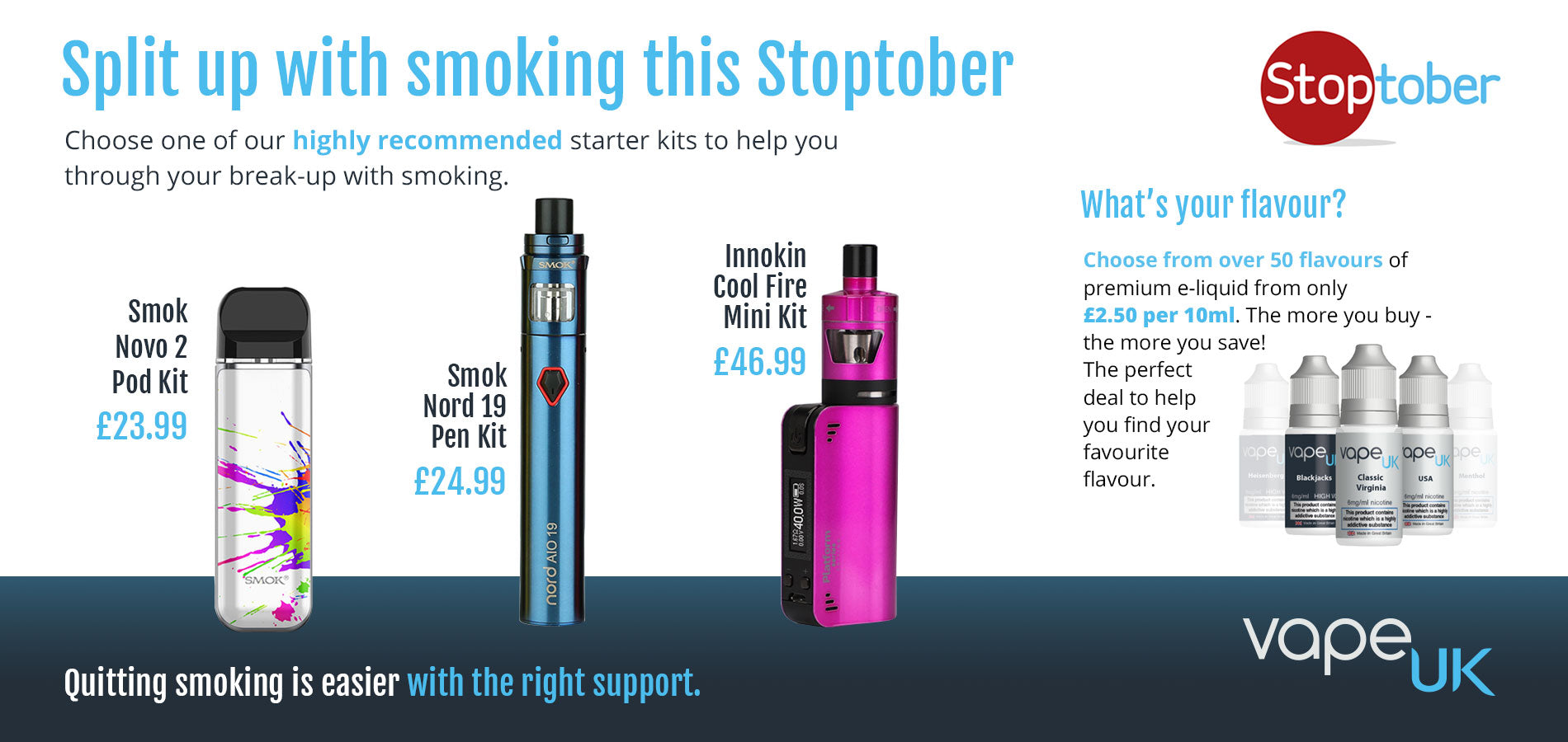 Vape UK Stoptober recommendations