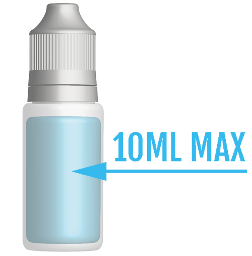 TPD compliant 10ml e-liquid bottle