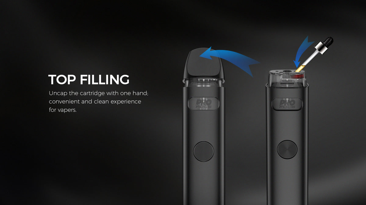 Top filling design for ease of use