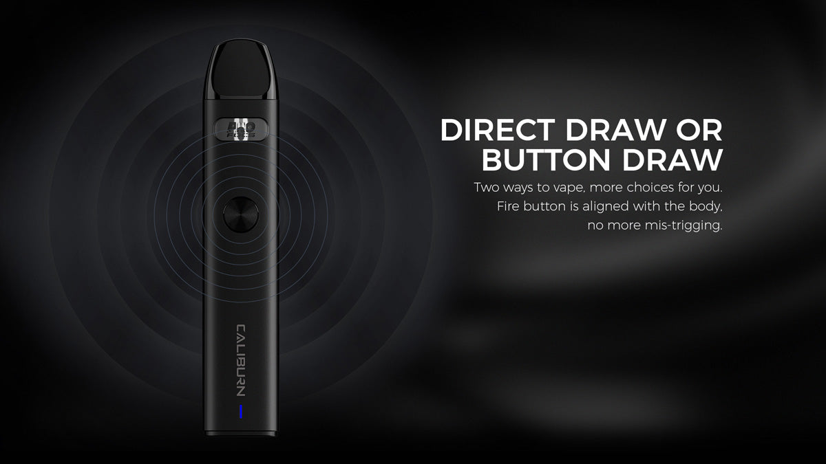 No need to push any buttons, simply inhale to start vaping