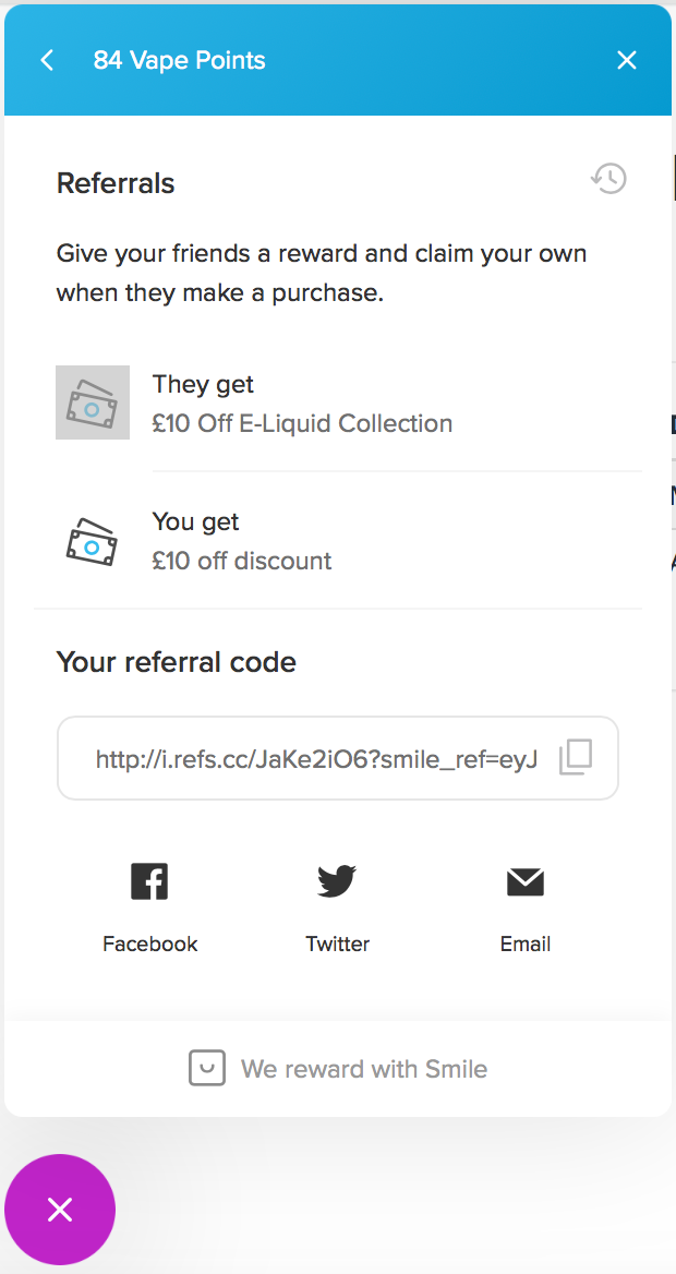 Receive a £10 voucher when your friend makes a purchase with your URL