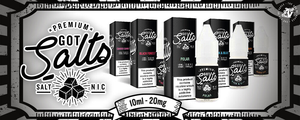 Got salts nic salt vape juice is available in both 10mg and 20mg nicotine strengths