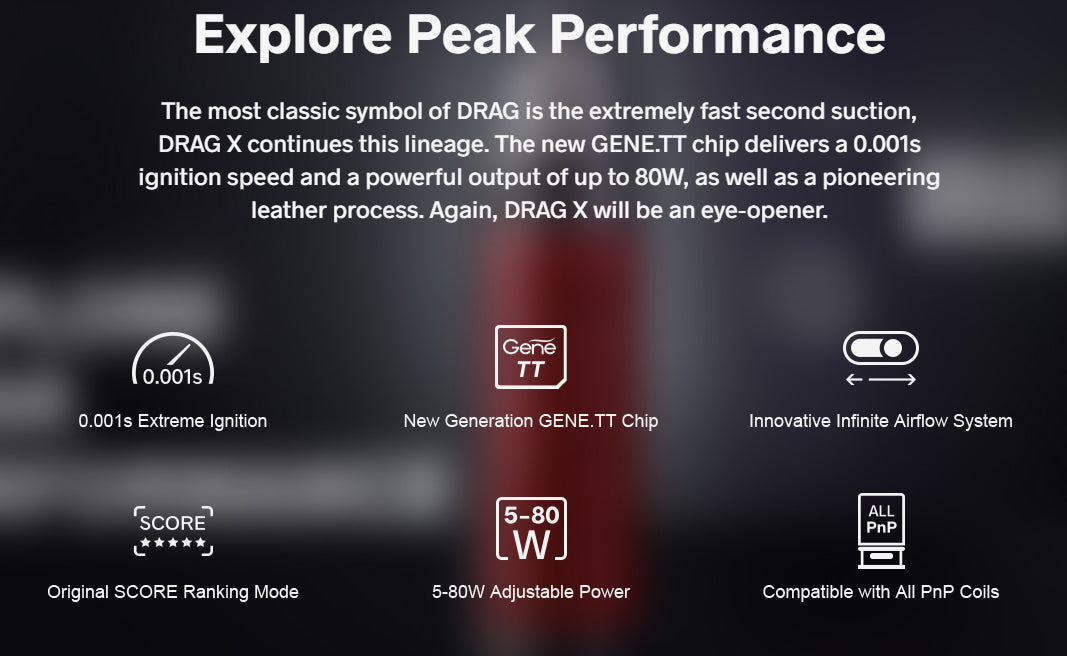 Explore Peak Drag Performance