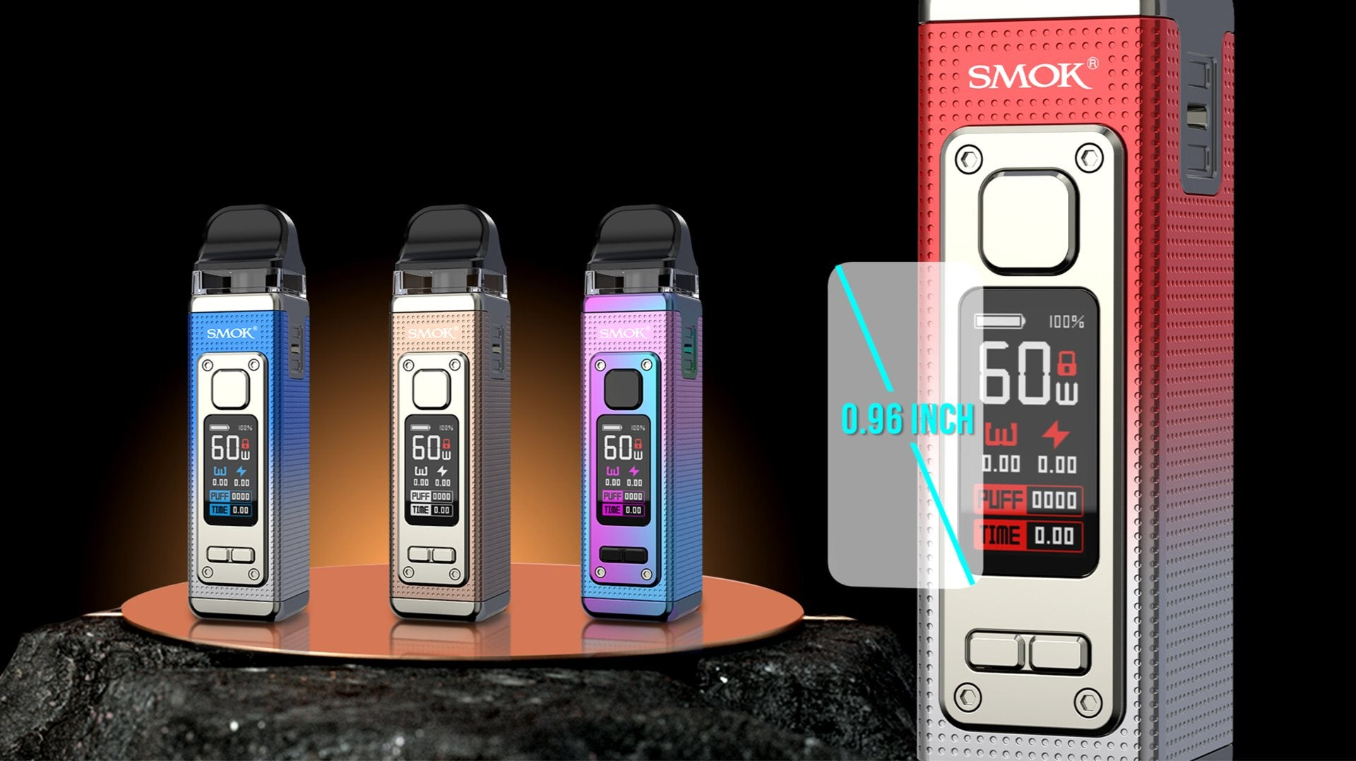 RPM4 has a customisable theme colour for a more intuitive vaping experience.