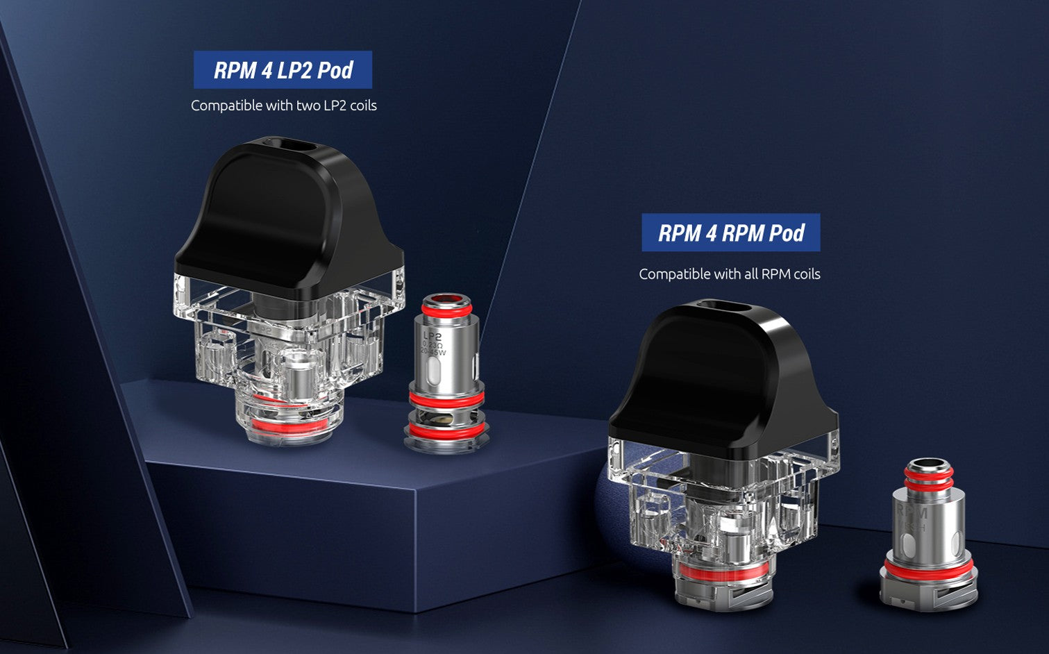 RPM4 has two styles of replaceable pods which take a huge range of coil options