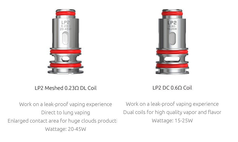 SMOK LP2 coils are available in two versions for all vaping styles