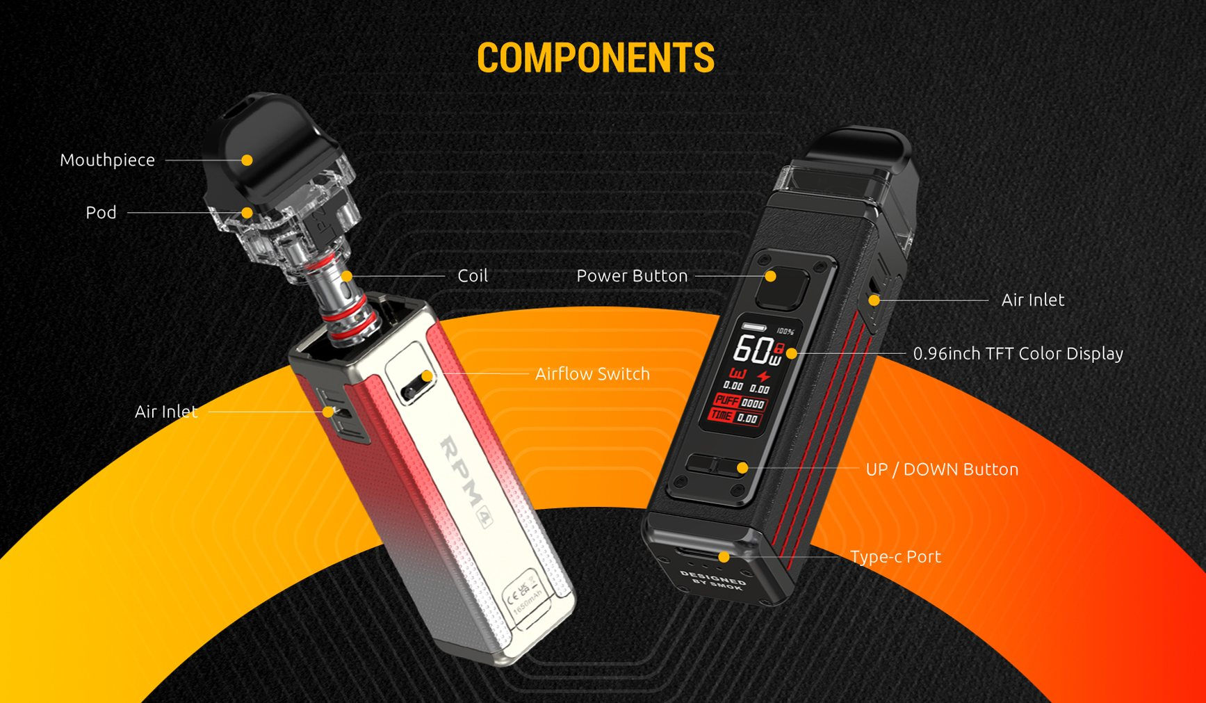 RPM4 has an array of modern features to suit all vapers needs