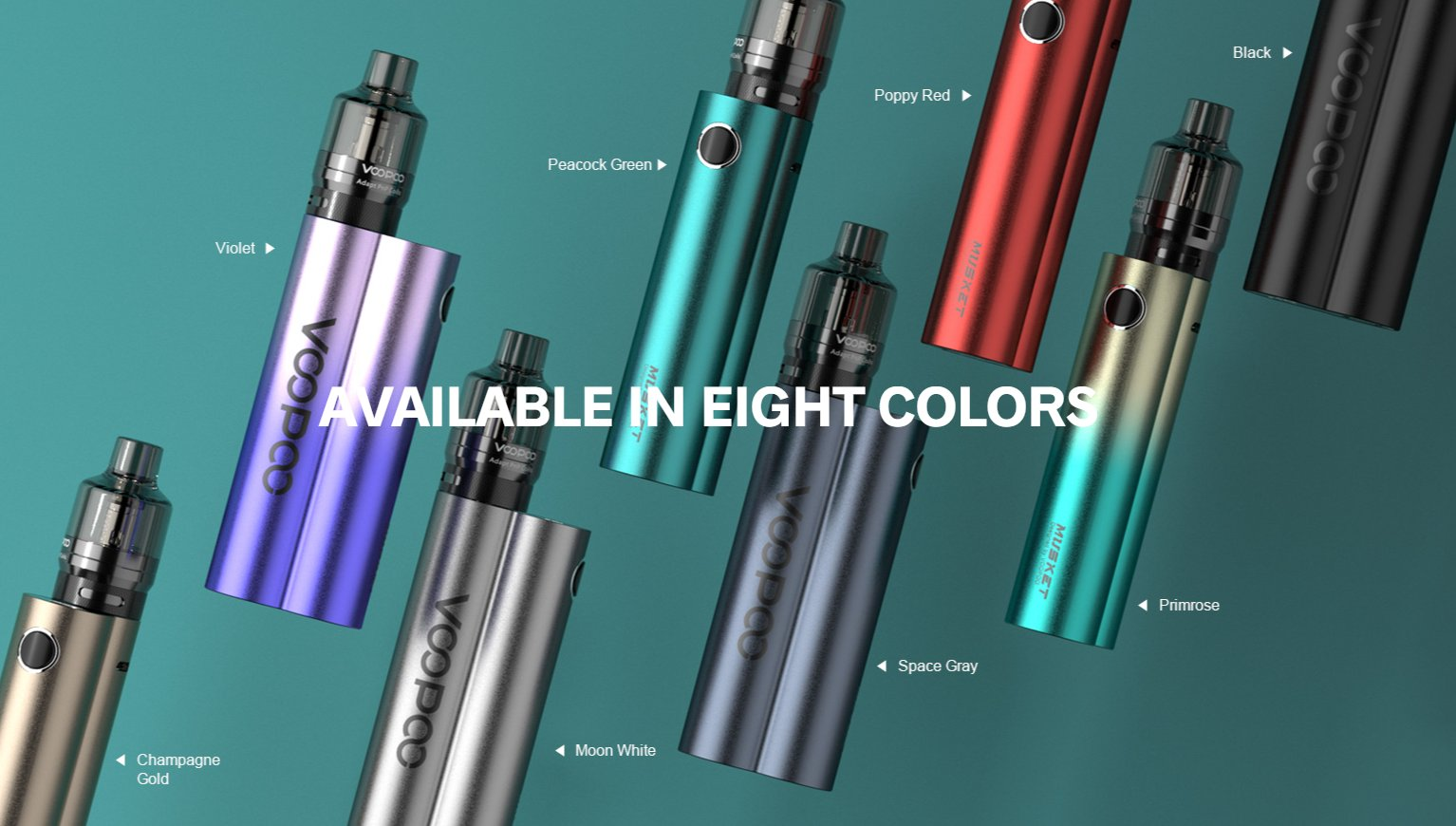 VooPoo's Musket kit is sold in eight colours.