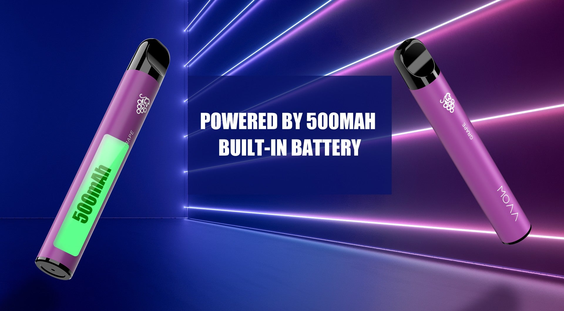 A 500mAh battery is fitted inside