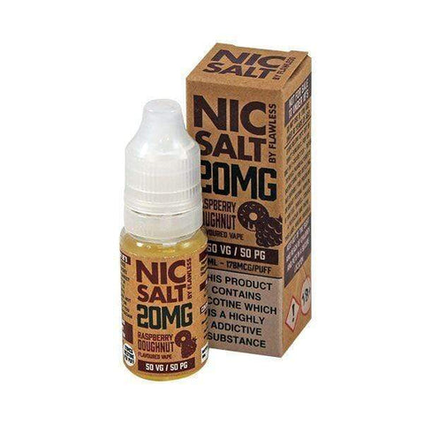 E-Liquid Flawless Nic Salt Raspberry Doughnut