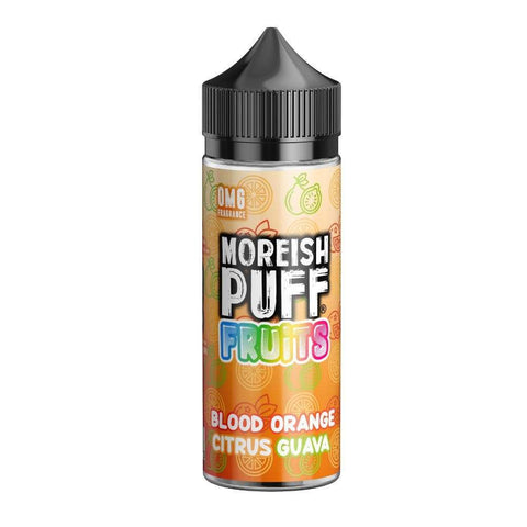 E-Liquid Moreish Puff Fruits Blood Orange Citrus Guava