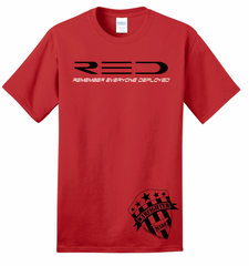 Warfighter Made RED Shirt - Remember Everyone Deployed
