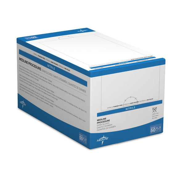 Medline Sterile Powder-Free Nitrile Exam Glove Pairs