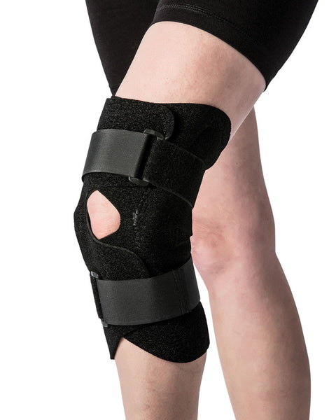 Front Closure Knee Brace with Hinges