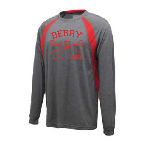 Derry Lacrosse Long Sleeve Pregame Shirt [grey]