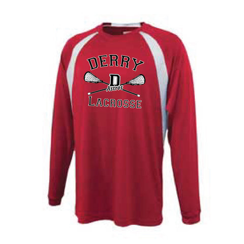 Derry Lacrosse Long Sleeve Playoff Shirt [red]