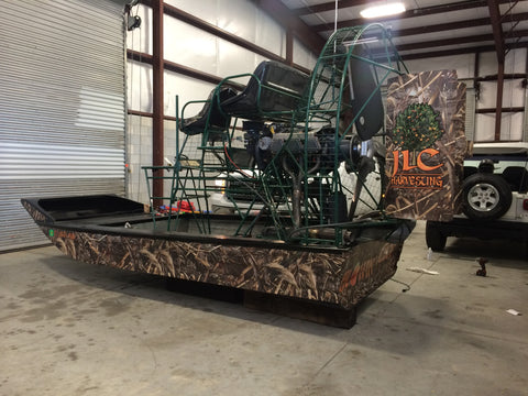 Full Camo Wrap - Air Boat