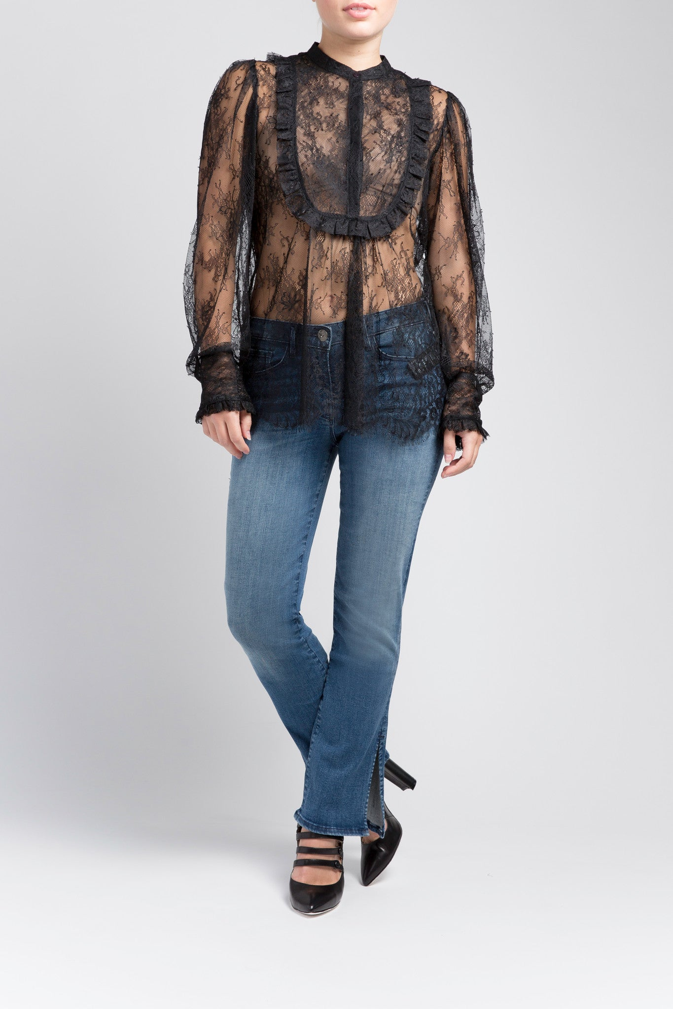 Lace & Frill Blouse