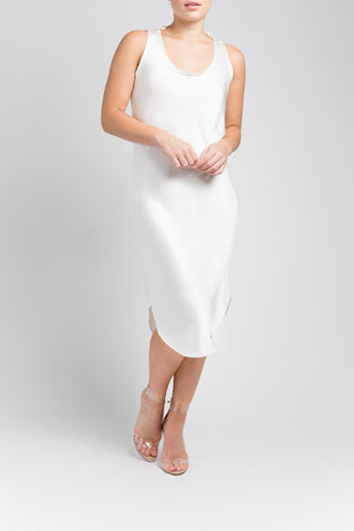 Silk Tank Dress - Natural