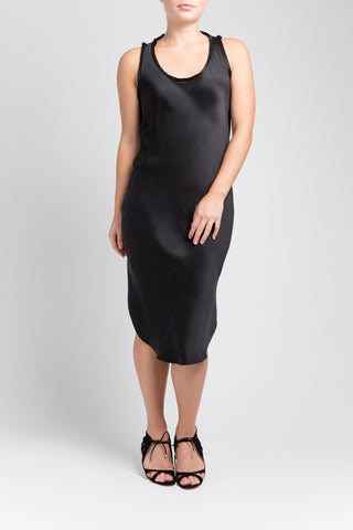 Silk Tank Dress - Black