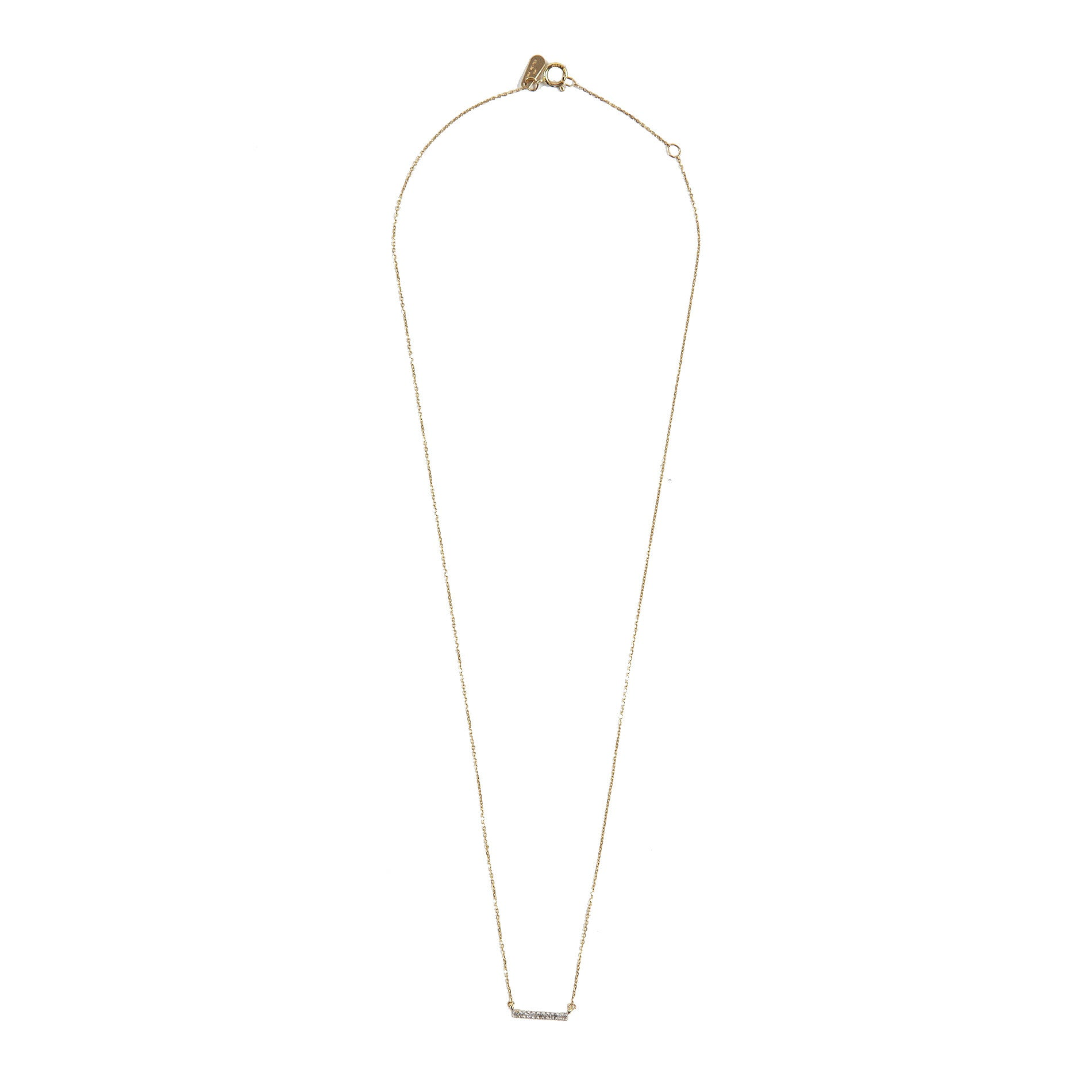Adina Reyter Pave Diamond Bar Necklace