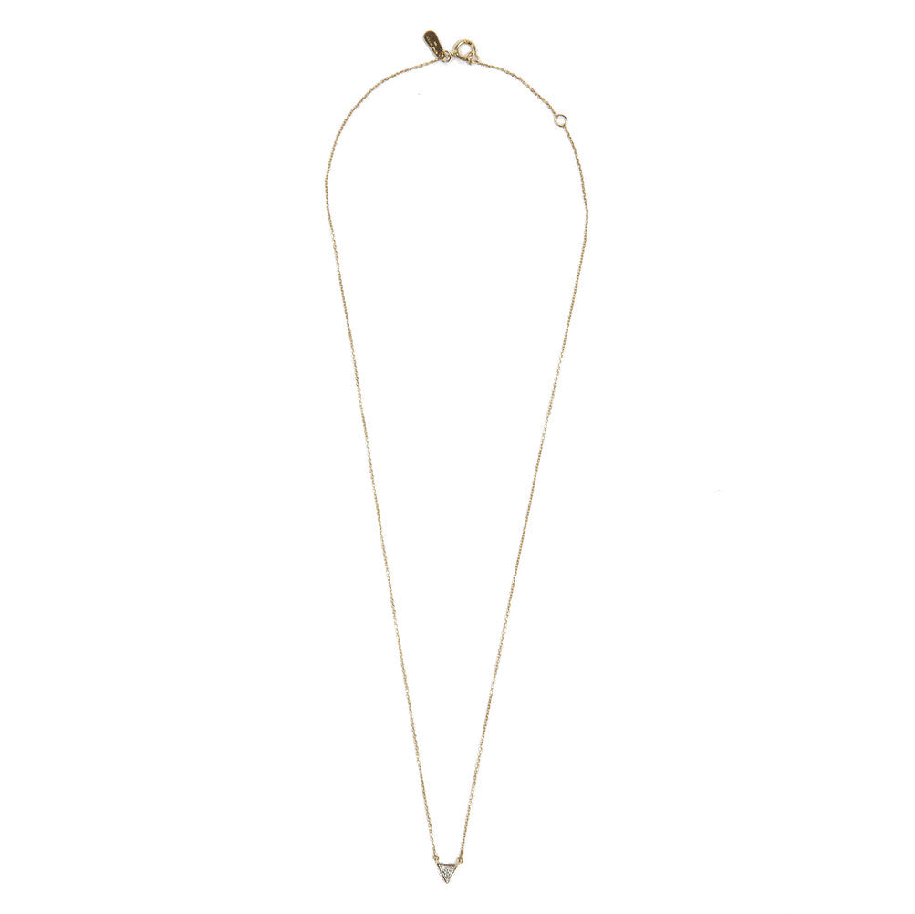 Adina Reyter Pave Diamond Triangle Necklace