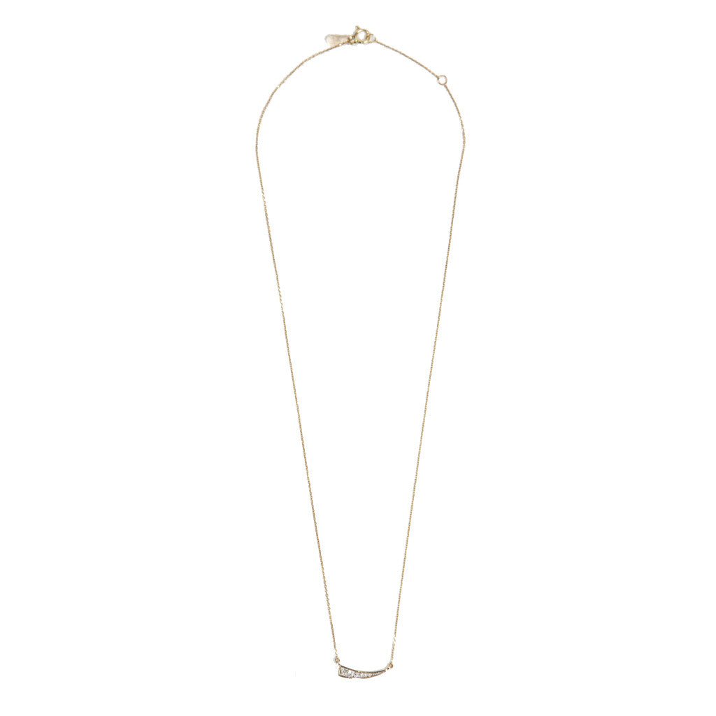 Adina Reyter Pave Diamond Tusk Necklace