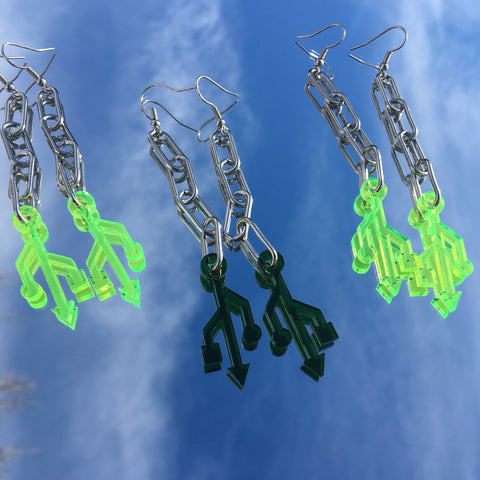 """Stay Connected"" Earrings"