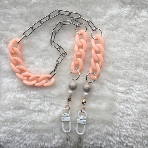 """Peaches & Queen"" Mask/Glasses Chain"
