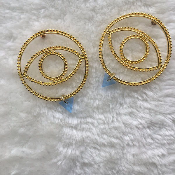 """Golden Eye"" Earrings"