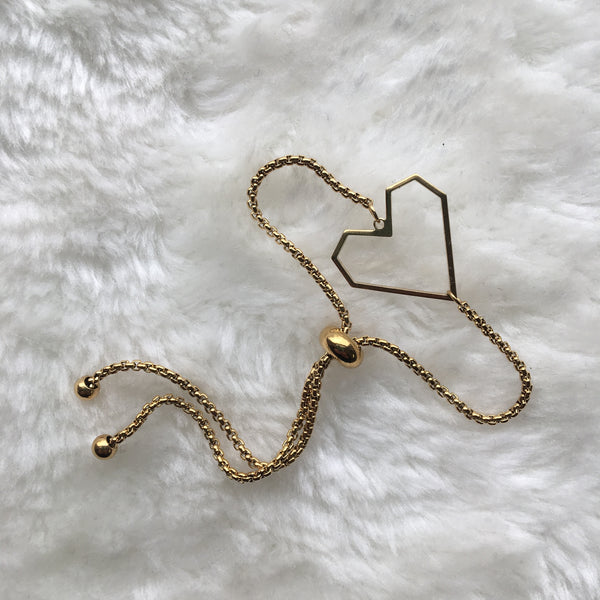 """Heart of Gold"" Slider Bracelet"