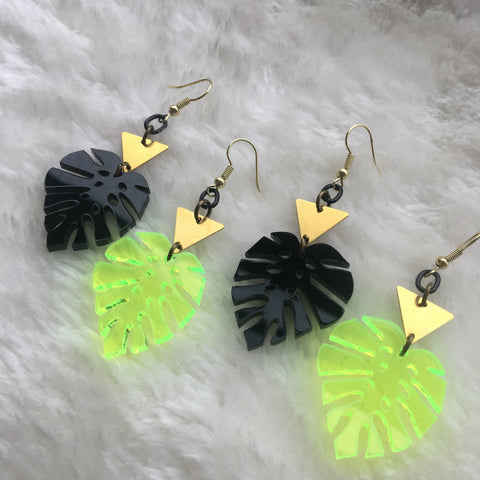 """Monstera"" Earrings"