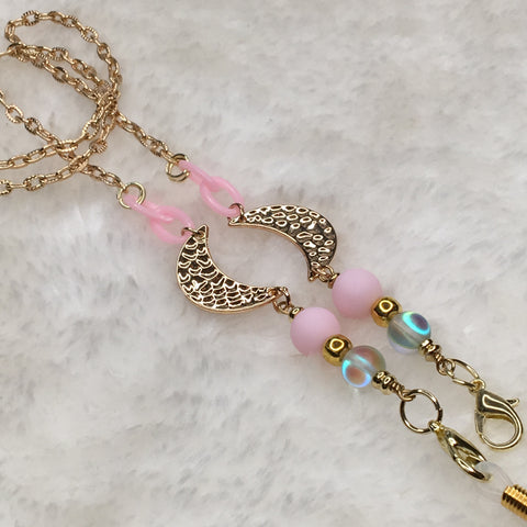 """Pink Phase"" Mask/Glasses Chain"