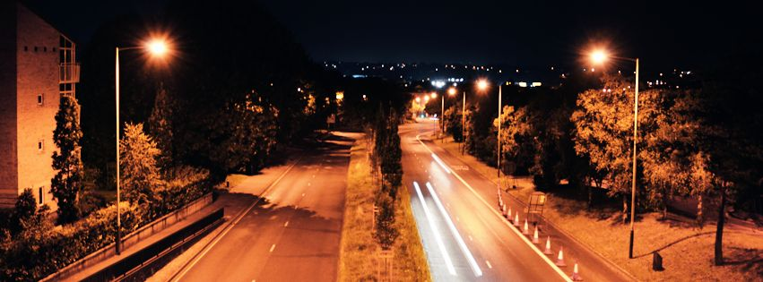 Norwich Panoramic Road Night