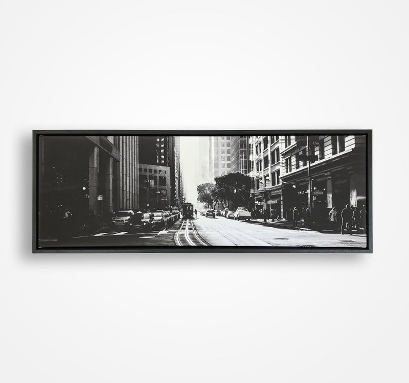 Panoramic Canvas floating framed