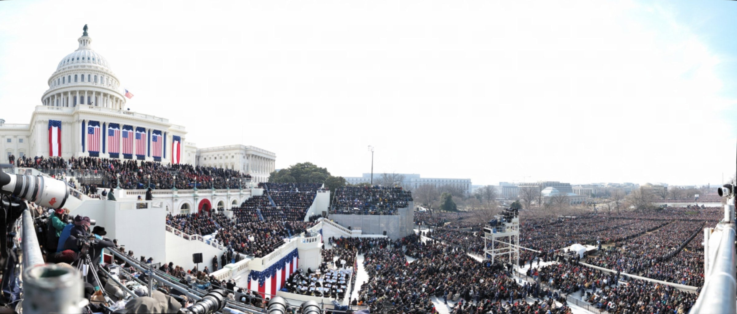 Obama's Inauguration panoramic photo