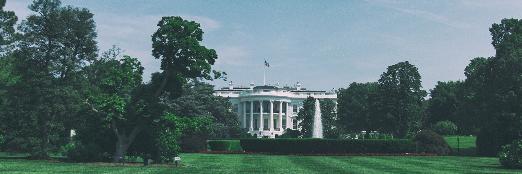 Panoramic photo of the White House