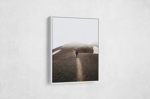 Float framed canvas - white frame