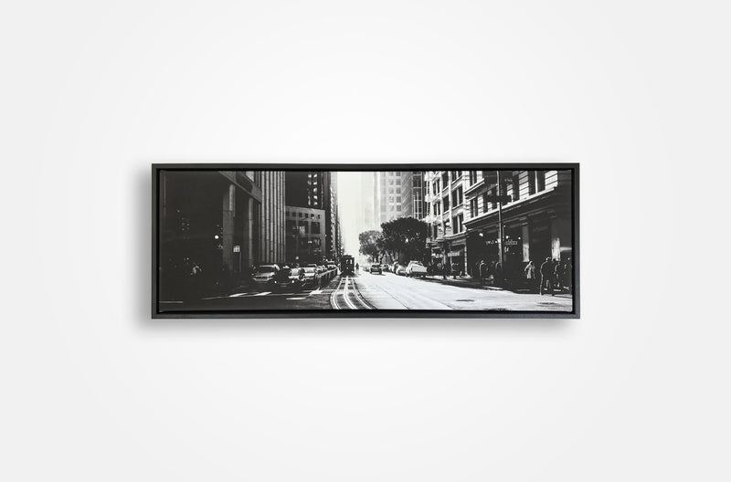 panoramic floating framed canvas print