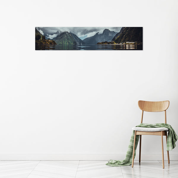 Your panoramic iPhone photo//image print to canvas 8x38 inches