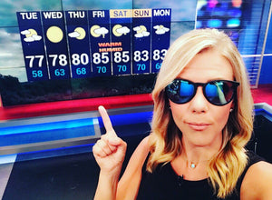Erin Colton News 12 Long Island Wearing Gage Sunglasses