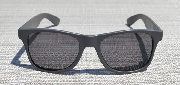 Charcoal Grey Wayfarer Sunglasses With Smoke Lenses