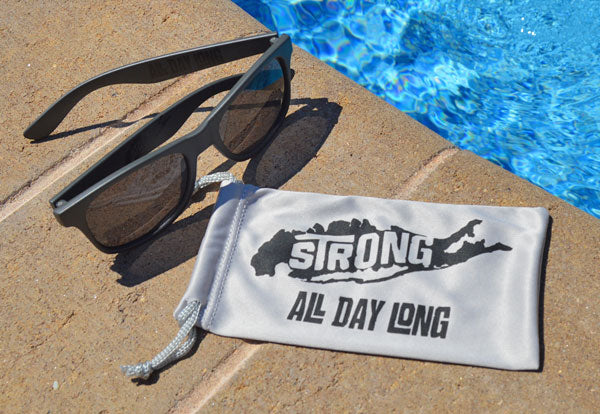 Branded Island Strong pouch included