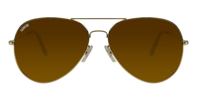 Gold Sunglasses With Polarized Amber Lenses