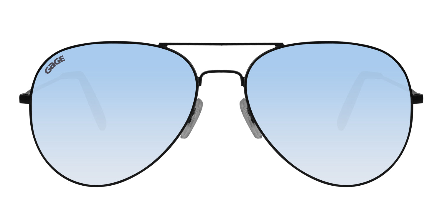 Black Sunglasses With Polarized Silver Mirror Lenses